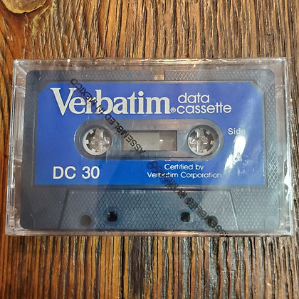 Sealed VERBATIM Data Cassette DC30