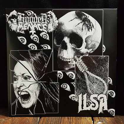 HOODED MENACE // ILSA - Split LP (Ltd. 500 copies)