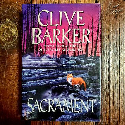 Barker, Clive : SACRAMENT - Hardcover 1st Edition