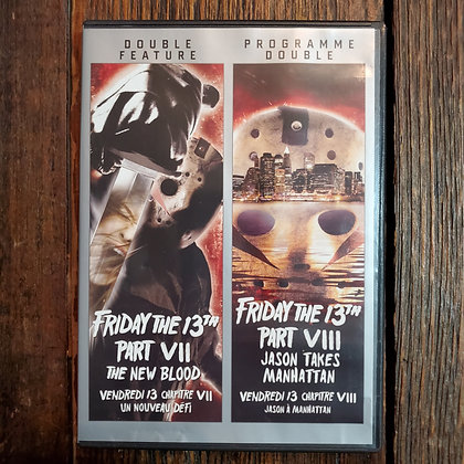 FRIDAY THE 13TH Part VII & VIII DVD