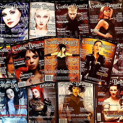 15 issues of GOTHIC BEAUTY (2003-2012 in reader condition)