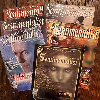 5 copies of THE SENITMENTALIST (Goth Culture Magazines)