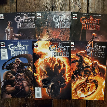 GHOST RIDER 6 Comic Book Pack - Garth Ennis / Clayton Crain (Reader Condition)