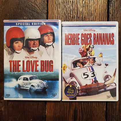 THE LOVE BUG + HERBIE GOES BANANAS 🍌 - 2 DVD Deal