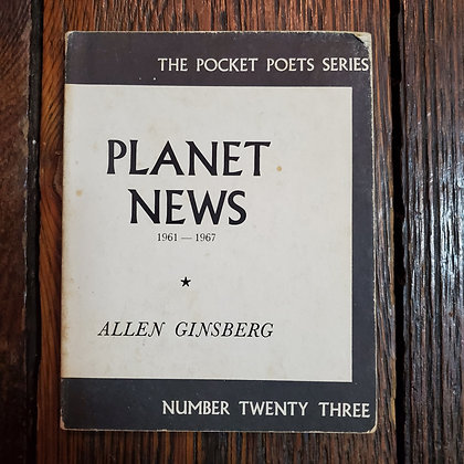Ginsberg, Allen - PLANET NEWS (City Lights 1970 Softcover 2nd Print)