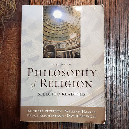 PHILOSOPHY OF RELIGION 3rd Ed. - Softcover in Reader Condition