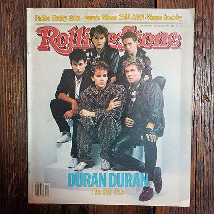 RARE Vintage 1984 ROLLING STONE Magazine #414 - DURAN DURAN (Corner Ripped)