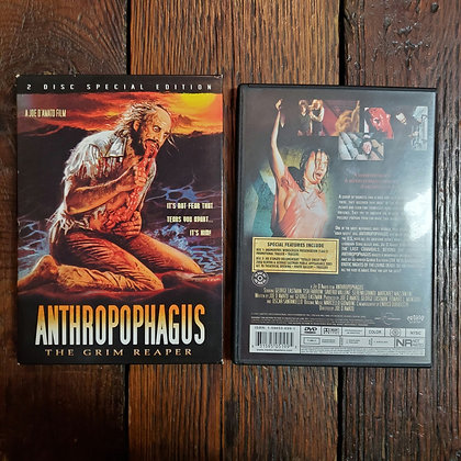 ANTHROPOPHAGUS - Rare 2 x DVD with Slip Case