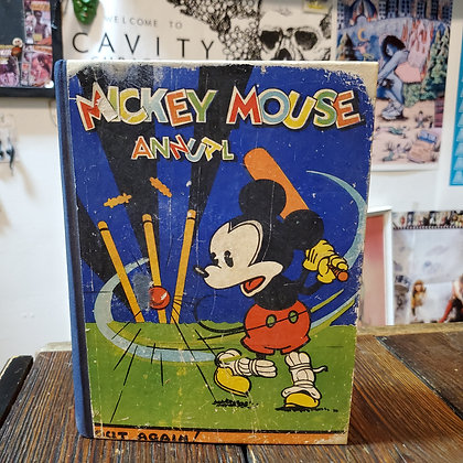 """MICKEY MOUSE Rare 1933 Annual """"Out Again"""""""