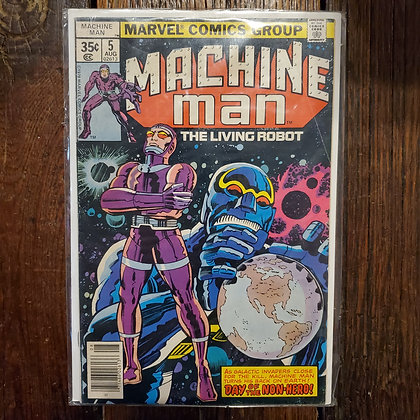 Vintage MACHINE MAN #5 Comic (Reader Condition)