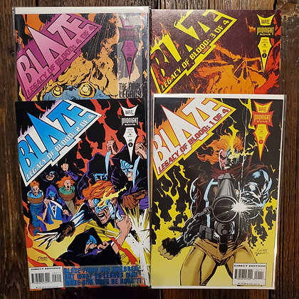 BLAZE Legacy of Blood 1 to 4 - Comic Book (Reader Condition)