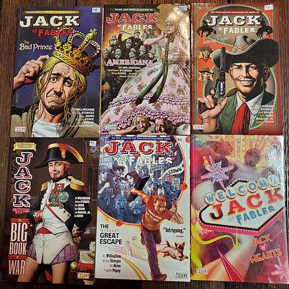 JACK OF FABLES 6 Pack Deal - Graphic Novels 1,2,3,4,5,6