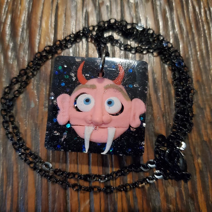 Resin Polymer Clay Sculpture Necklace #3 locally made by @itsjaimekay