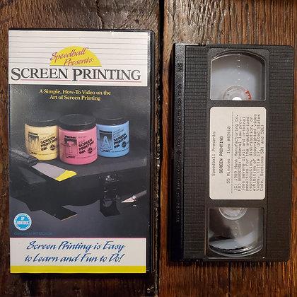 Speedball SCREEN PRINTING - 1989 VHS
