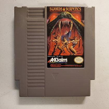 SWORDS & SERPENTS - NES Game Cartridge