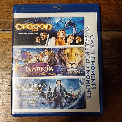 Eragon / Narnia / Percy Jackson - Bluray (3 discs)