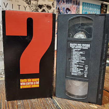 FAITH NO MORE : Who Cares A Lot Greatest Videos VHS