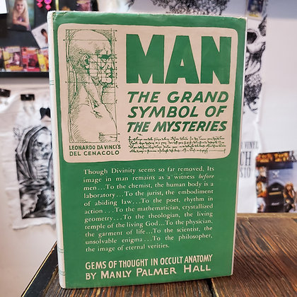 Hall, Manly Palmer : MAN THE GRAND SYMBOL OF THE MYSTERIES - SIGNED 1947 ex-lib