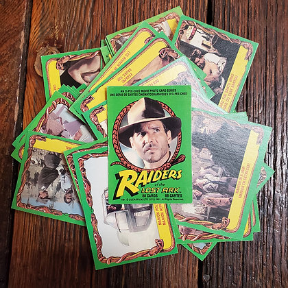 45 x RAIDERS OF THE LOST ARK 1981 Trading Cards