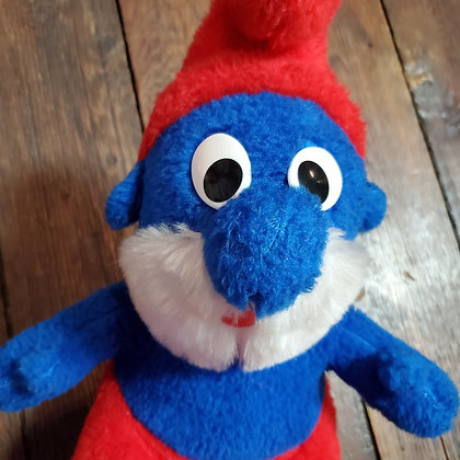 Vintage Stuffed Papa SMURF (Made in Germany)