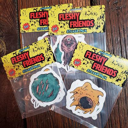 FLESHY FRIENDS - Localy Made Sticker Pack by @sloshpowerart