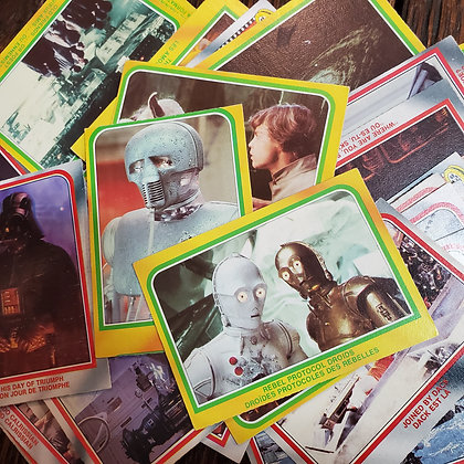 50 x Star Wars The Empire Strikes Back 1980 Trading Cards