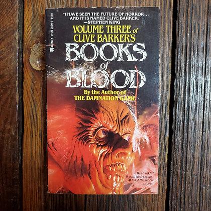 Barker, Clive : BOOKS OF BLOOD Volume Three - Vintage Paperback