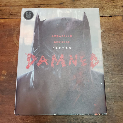 BATMAN DAMNED Azzarello / Bermejo Hardcover Comic (Jacket Damaged )