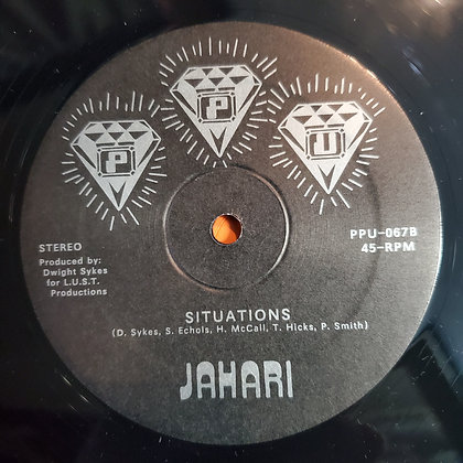 "JAHARI : Fire & Desire - 12"" Vinyl (2015 Peoples Potential Unlimited)"