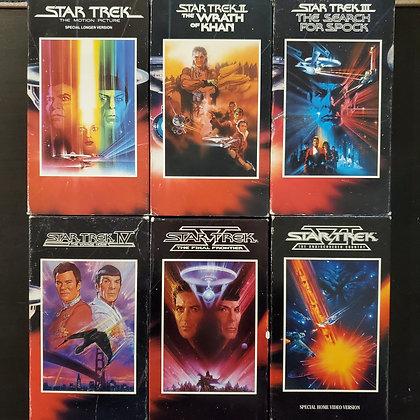 STAR TREK - 6 VHS SET