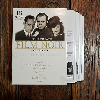 FILM NOIR 18 films Darkest Betrayal - 6 DVD SET
