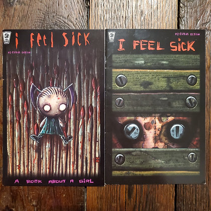 I FEEL SICK Comics #1 & #2 by Jhonen Vasquez (Reader Condition)