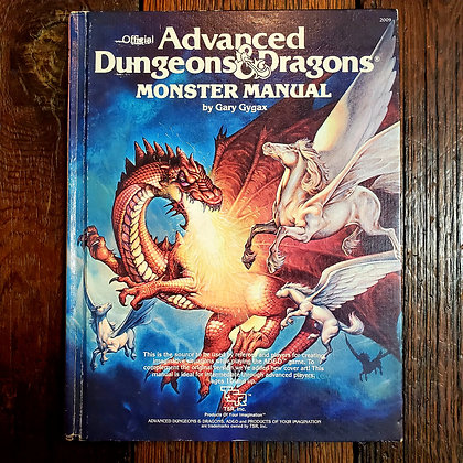 MONSTER MANUAL Advanced Dungeons & Dragons - 1978 Hardcover by Gary Gygax