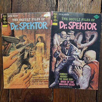 The Occult Files of DR SPEKTOR - 1975 Comic Book 2 pack (#14 & #17)