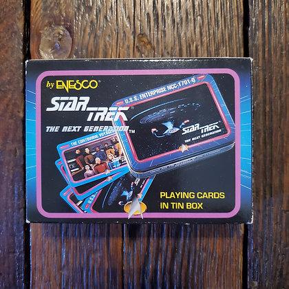STAR TREK TNG 1992 Playing Cards in Tin Box (Decks still sealed!!)