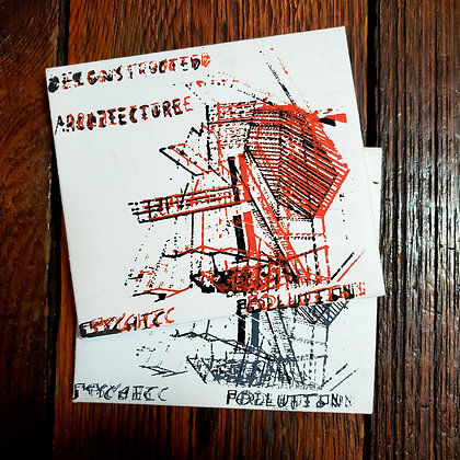 PSYCHIC POLLUTION : Deconstructed Architecture - Screen Print CD(Random Colours)