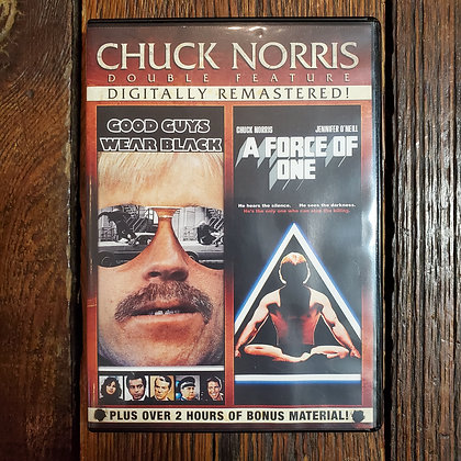Chuck Norris Double Feature - GOOD GUYS WEAR BLACK + A FORCE OF ONE -  2 x DVD
