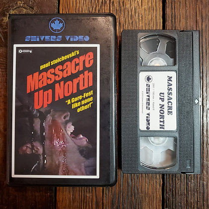 Massacre Up North - Rare VHS (Shivers Video // Black Clam Shell Case)