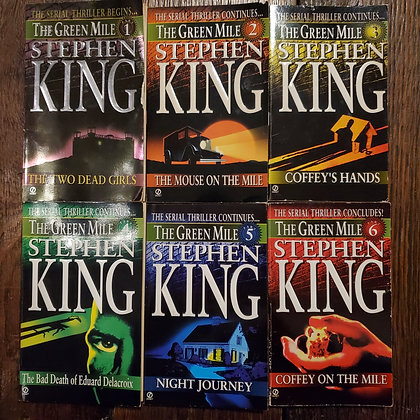 King, Stephen : THE GREEN MILE 1 to 6 - Paperback Books