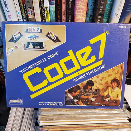 "CODE 7 ""Break The Code"" 1985 Game"