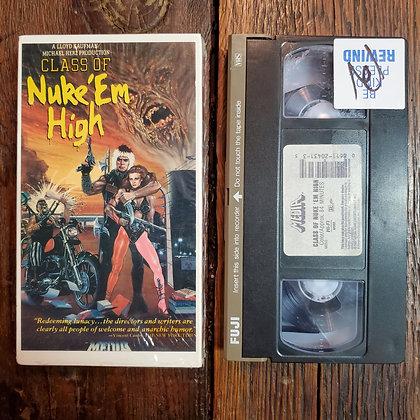 CLASS OF NUKE 'EM HIGH - Cut Box VHS