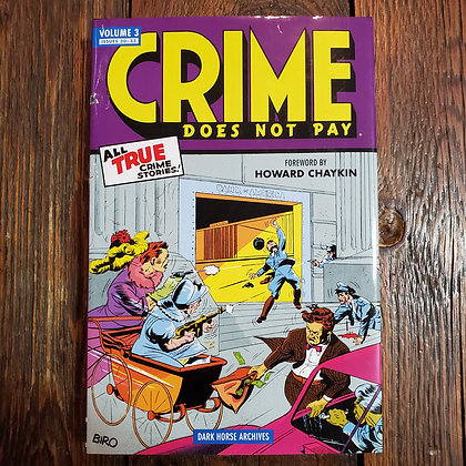 CRIME DOES NOT PAY Hardcover Comics  Volume 3 (slight dust jacket damage)