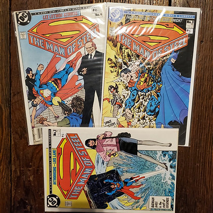 Superman THE MAN OF STEEL 3 Pack Deal - Comic Books #2,3,4