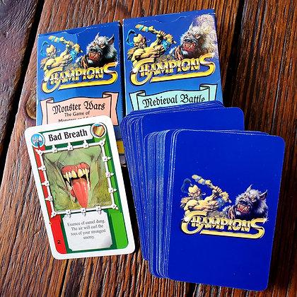 "84 CHAMPIONS ""Monster Wars & Medieval Battle"" 1995 Game Cards"