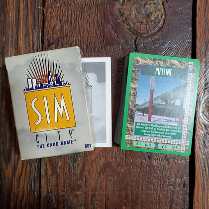 1994 SIM CITY Card Game (Complete)