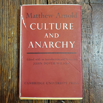 Arnold, Matthew : CULTURE AND ANARCHY - Hardcover Book