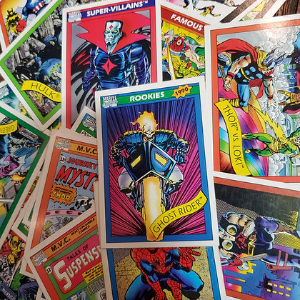 25 x MARVEL 1990 Trading Cards