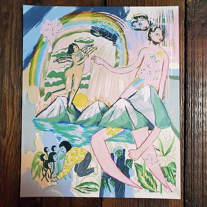 "ART PRINT #5 - 11.5"" x 14"" by CHANEL COLLEAUX @gutstems"