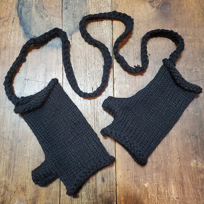 Local Handmade connected Black Gloves
