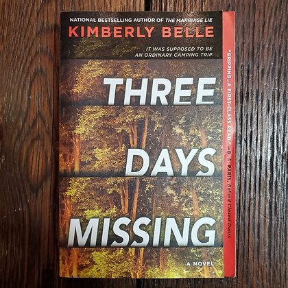 Belle, Kimberly : THREE DAYS MISSING - Softcover Book